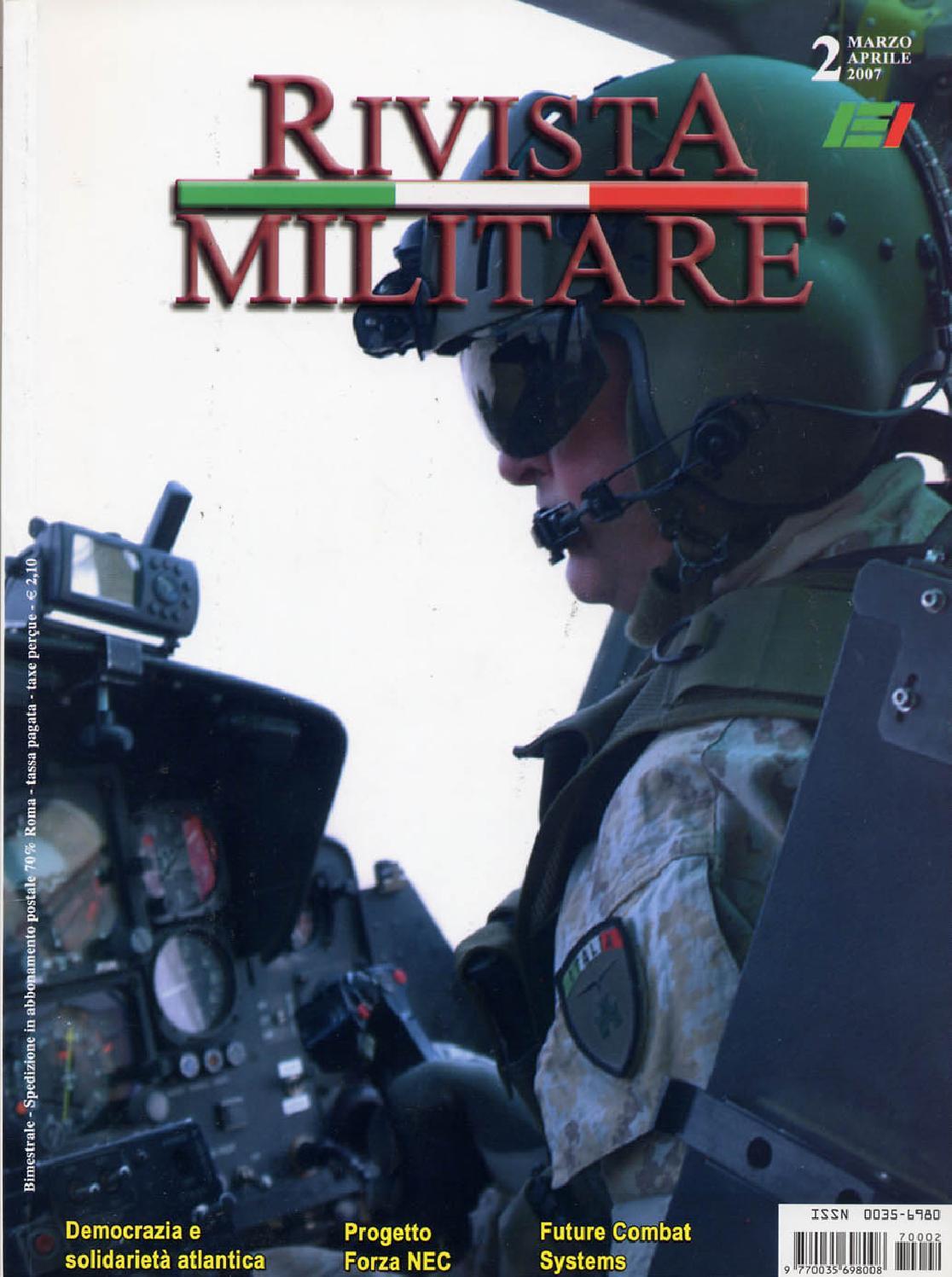 RIVISTA MILITARE 2007 N.2 by Biblioteca Militare issuu