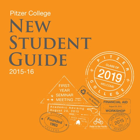 2015-16 New Student Guide by Pitzer College - issuu