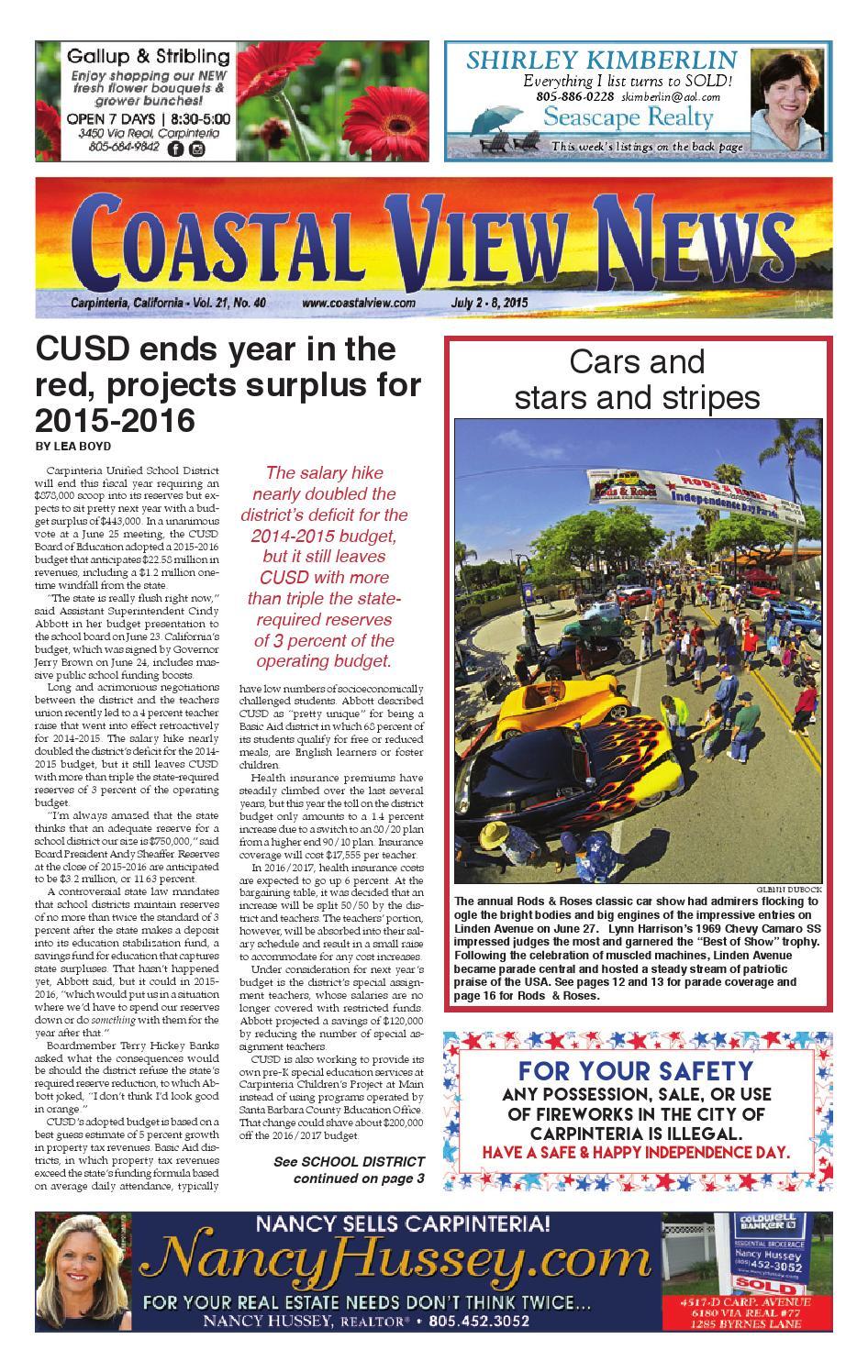 Cvn 070215 By Coastal View News Issuu Help My Generator Runs But I Don39t Have Any Power Roadtrek Blog