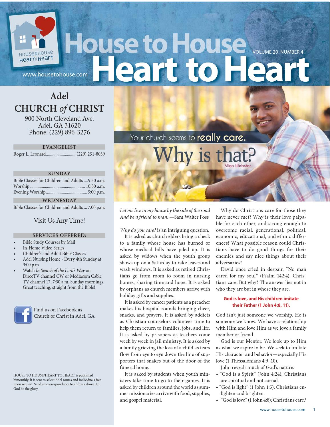 July - August 2015 House to House Heart to Heart - Adel church of