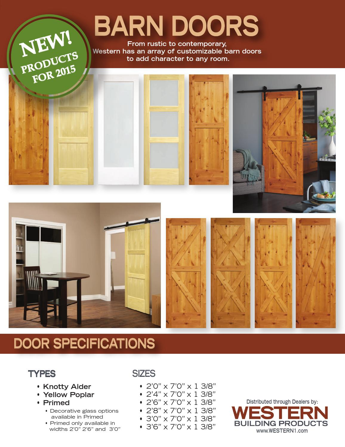 Barn Doors By Western Building Products Issuu