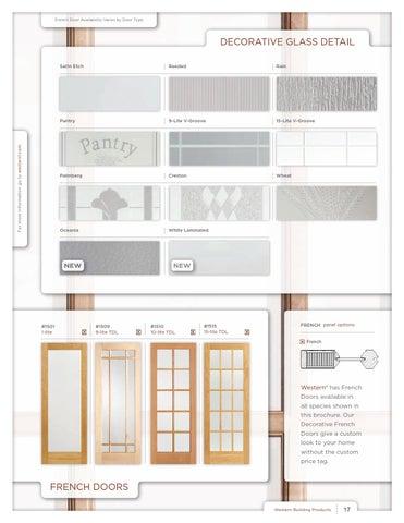 Western Interior Door Brochure By Western Building Products Issuu
