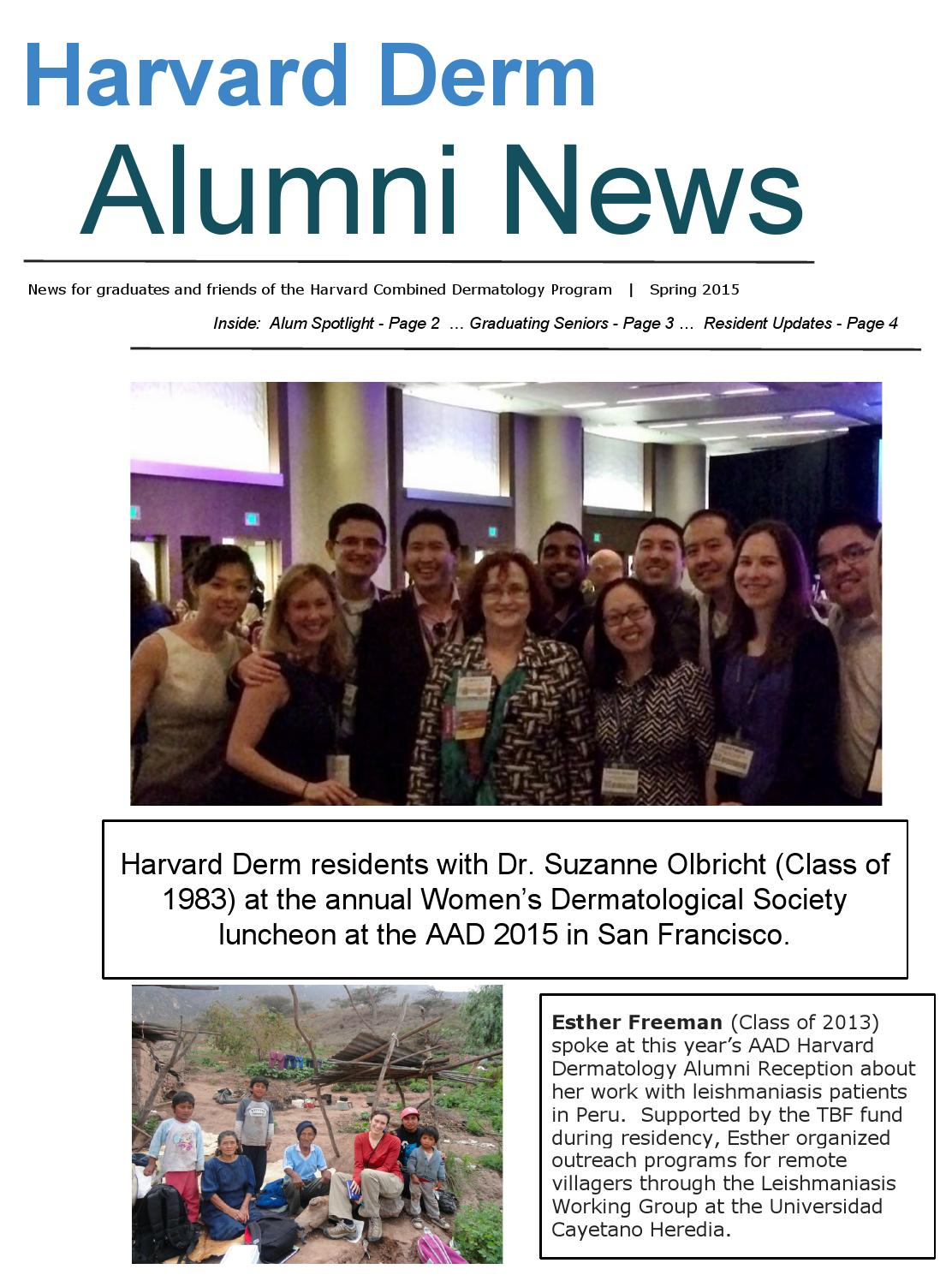 Harvard Derm Spring 2015 Newsletter By Vinod Nambudiri Issuu