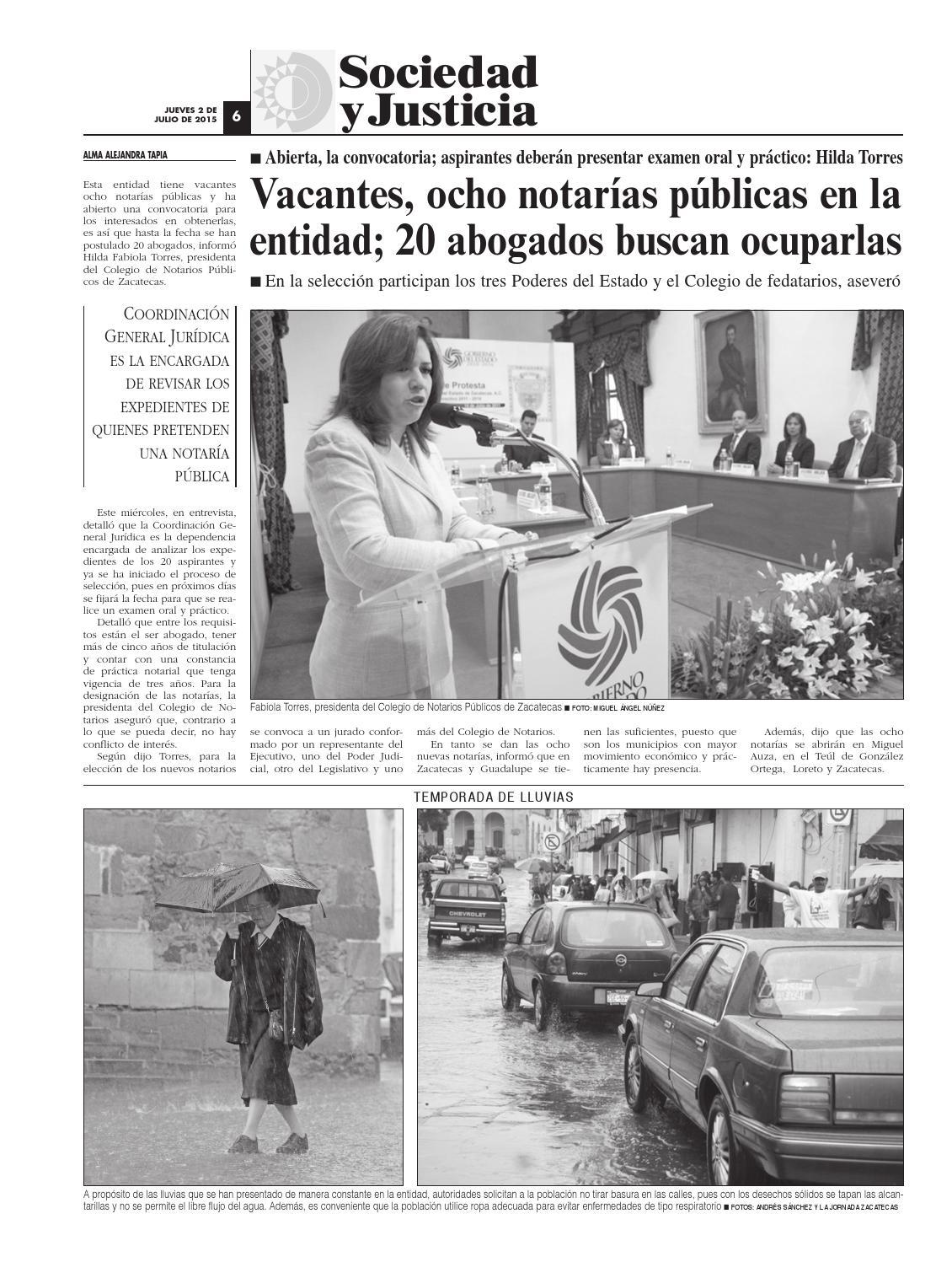 La Jornada Zacatecas, jueves 2 de julio del 2015 by La
