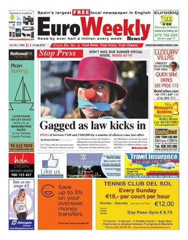Euro Weekly News - Costa del Sol 2 - 8 July 2015 Issue 1565 by Euro ... 6d3a62ea53a
