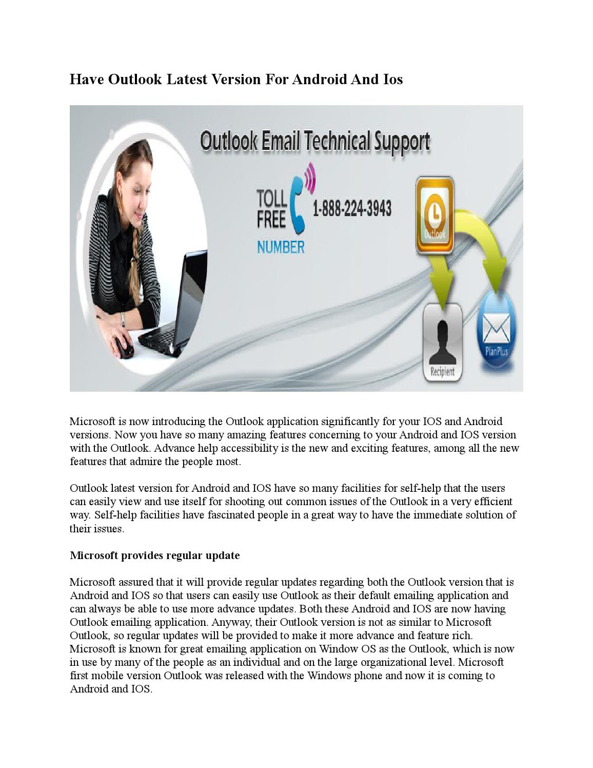 Have Outlook Latest Version For Android And ios by Joe Hary