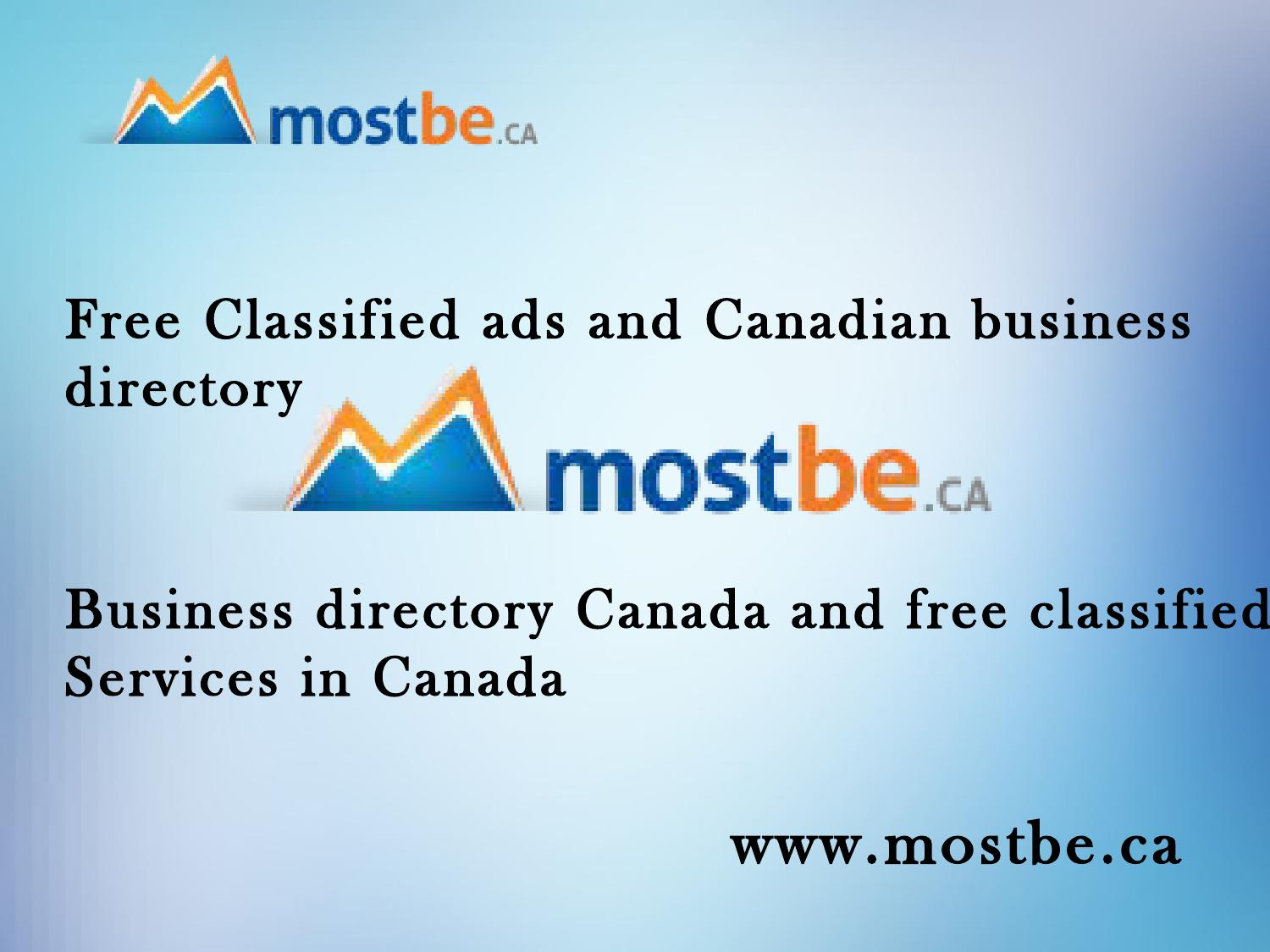Free classified ads and canadian business directory business