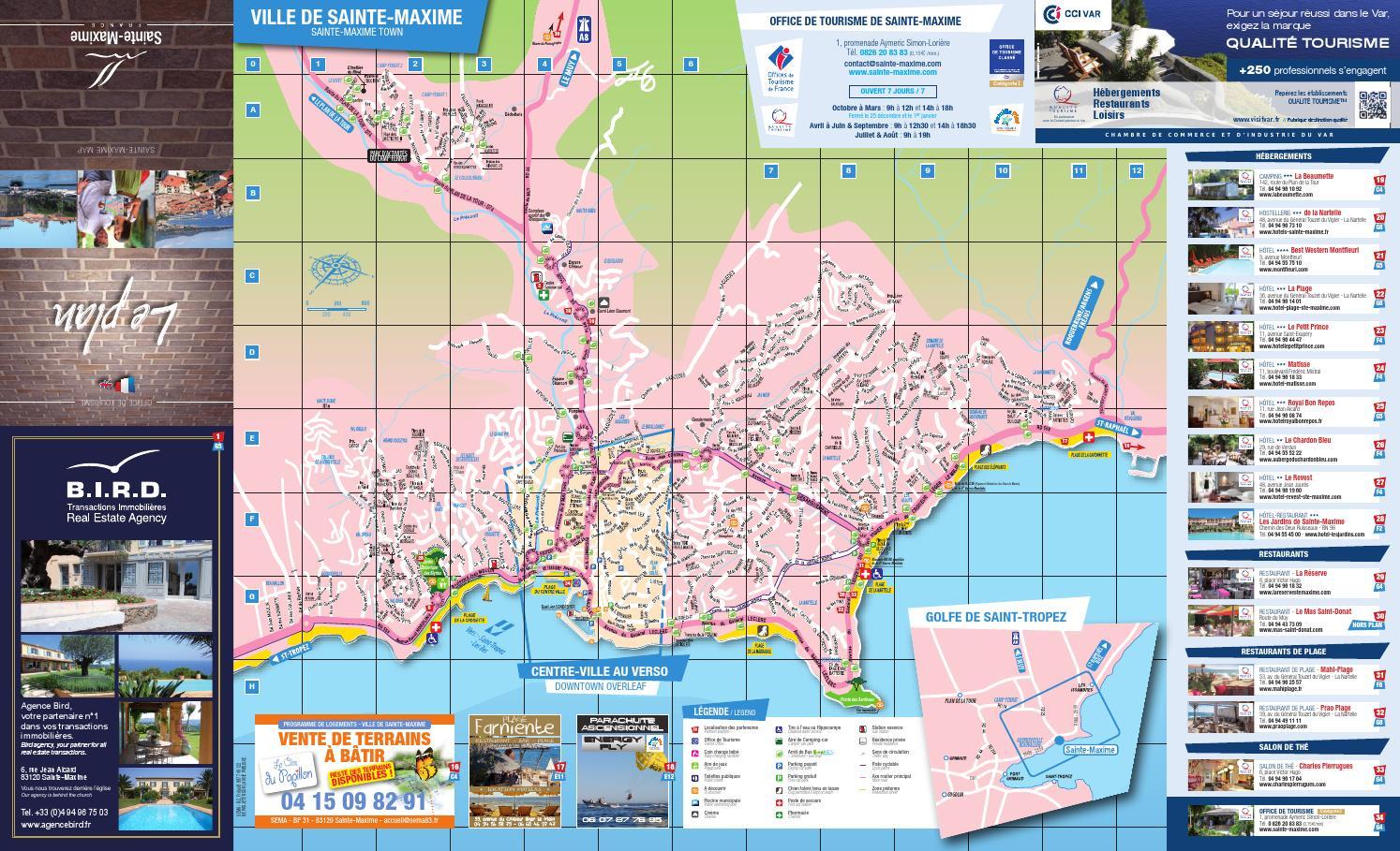 Plan de ville 2015 by office de tourisme de sainte maxime issuu - Office tourisme sainte maxime ...