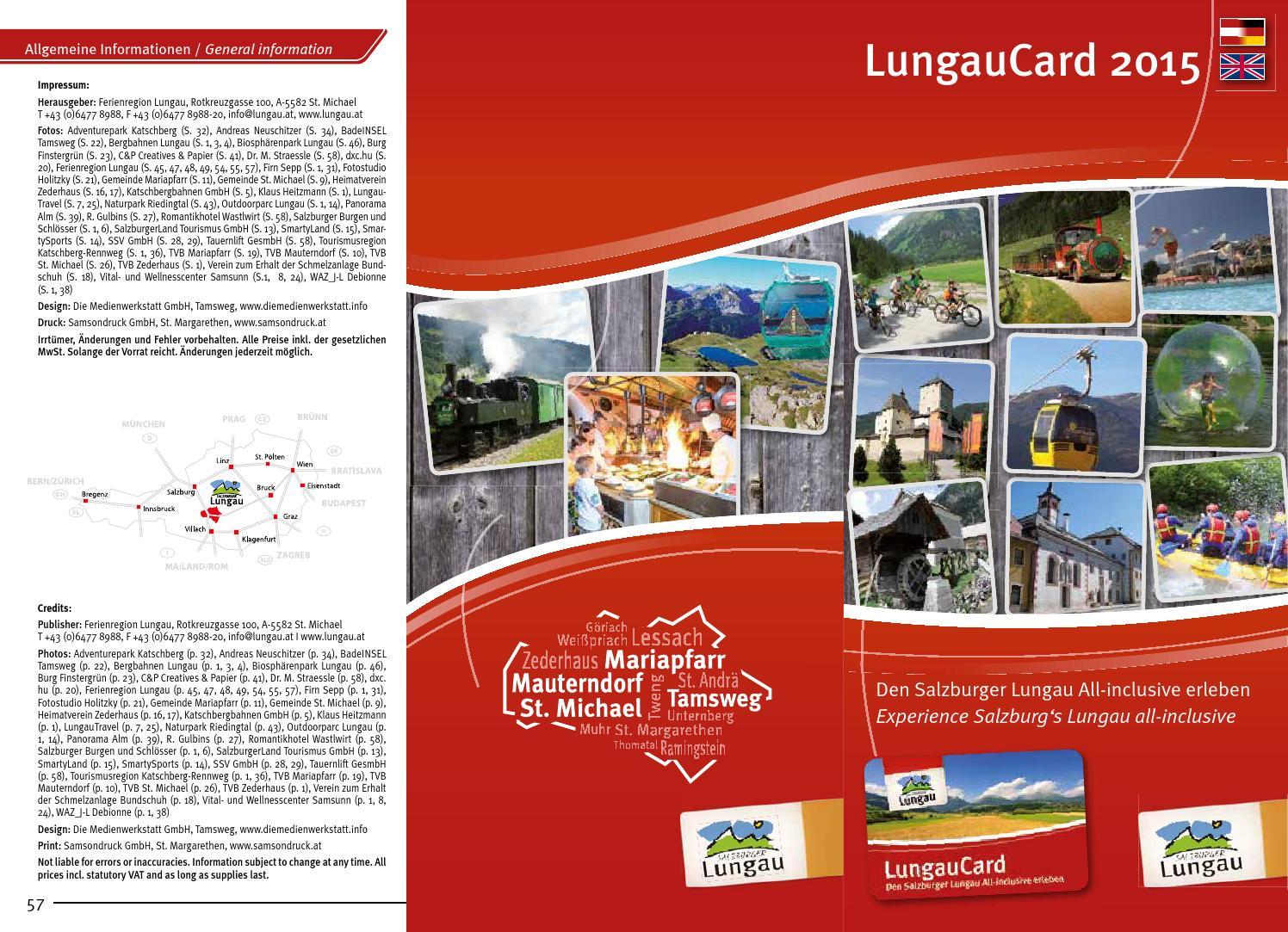 Lungaucard Broschüre 2015 by Ferienregion Lungau issuu