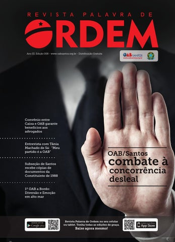 282cf35d7f REVISTA PALAVRA DE ORDEM  8 - OAB SANTOS by Celeiro.BMD® - issuu