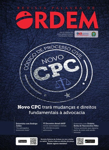 Revista Palavra de Ordem  9 - OAB Santos by Celeiro.BMD® - issuu ddf42943133f1