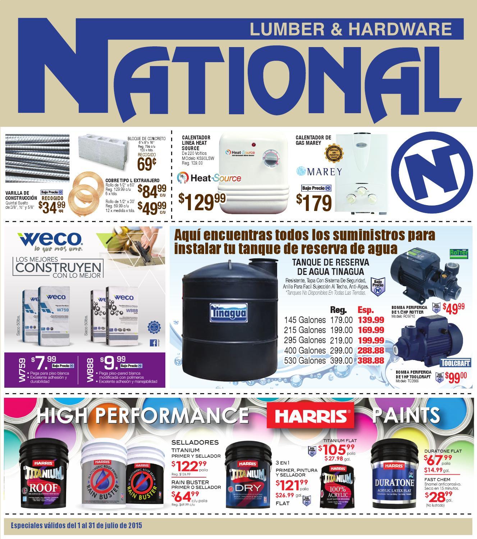 Shopper National Lumber Amp Hardware Julio 2015 By El