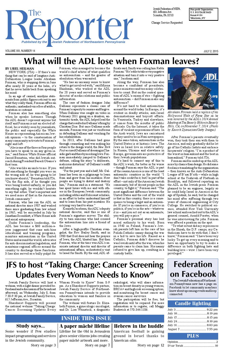 July 2, 2015 Edition of The Reporter by Becky Schastey - issuu