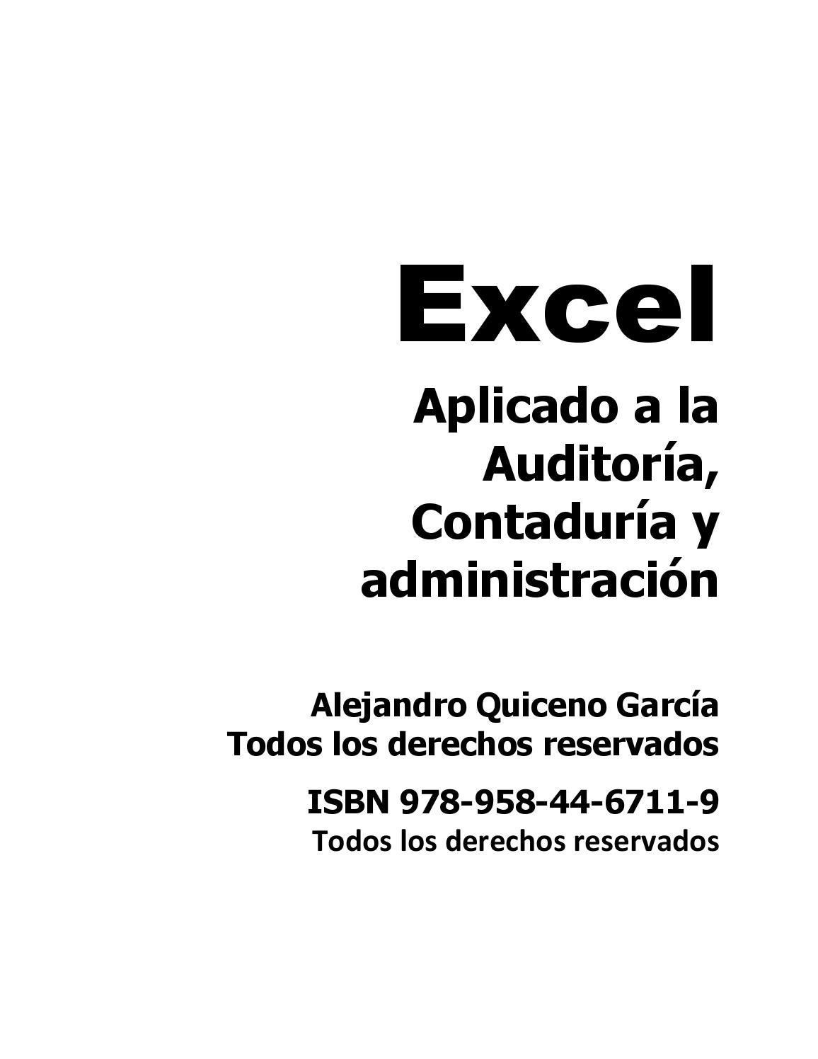 Excel para contadores by ISIDRO JIMENEZ GALVIS - issuu