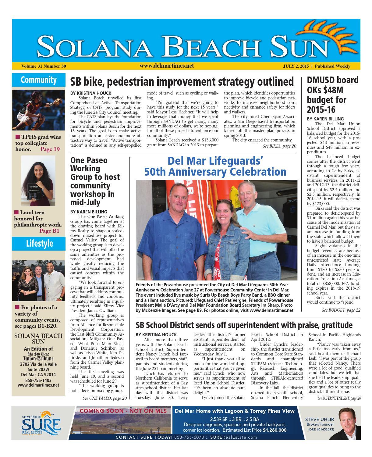 b24fc5ae17be72 Solana beach sun 7 2 15 by MainStreet Media - issuu