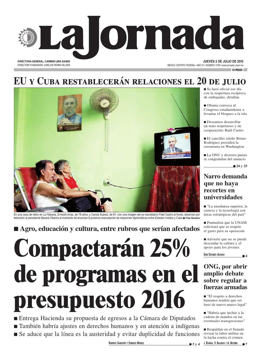 La Jornada, 07/02/2015 by La Jornada: DEMOS Desarrollo de Medios SA ...