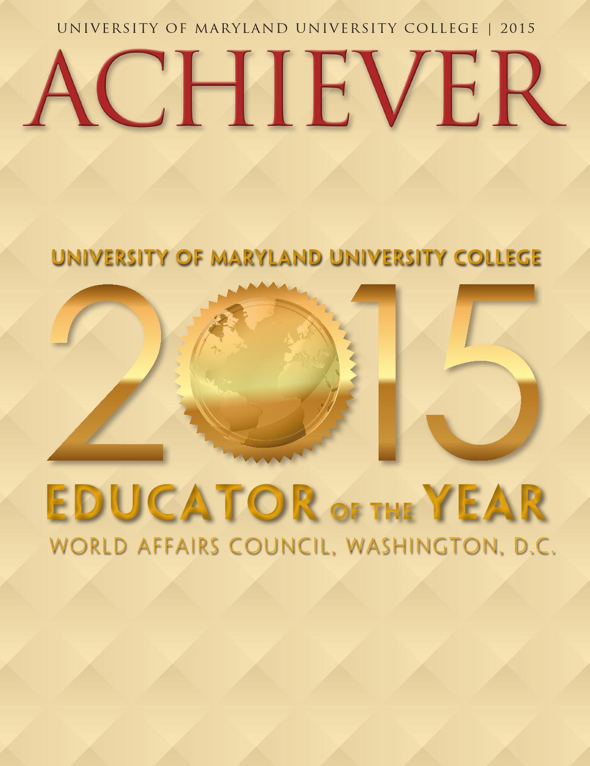 UMUC Achiever Magazine, 2015 by University of Maryland University ...