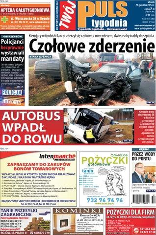 0a2000fe0aa4f Twój Puls Tygodnia - nr 630 - 16 grudnia 2014 r. by Puls Tygodnia ...
