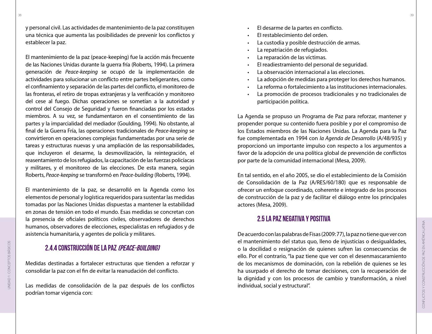 Curso de Conflictos y Construcción de la Paz en América Latina by ...