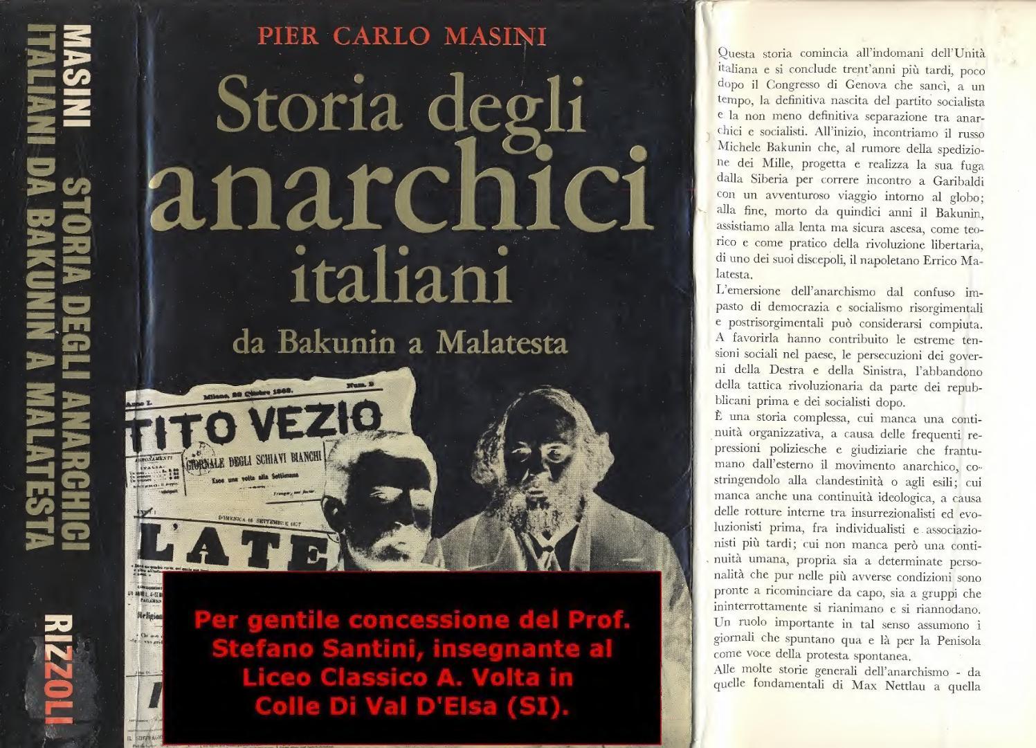Pier carlo masini storia degli anarchici italiani da bakunin a
