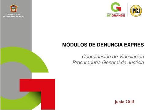 Modulos De Denuncia Exprés Junio By Procuraduria General De
