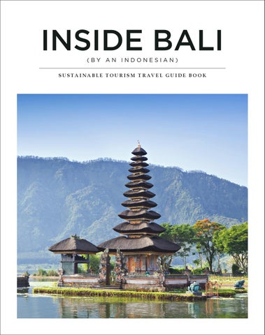 Inside Bali Sustainable Tourism Guide Book By Jun Ki Issuu