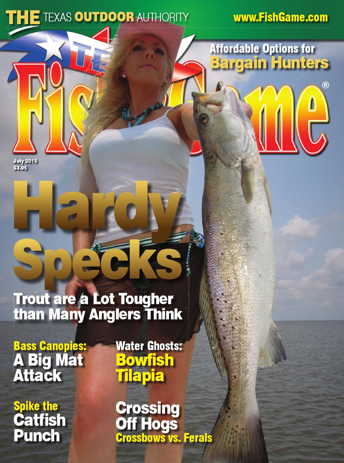 Texas fish game july 2015 by texas fishing and hunting for Texas saltwater fishing magazine