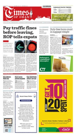 Times of Oman - July 5, 2015 by Muscat Media Group - issuu