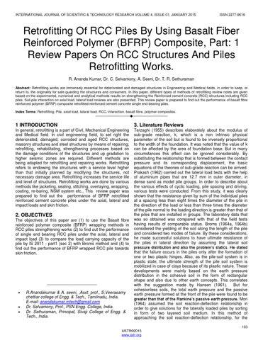 Retrofitting of rcc piles by using basalt fiber reinforced polymer