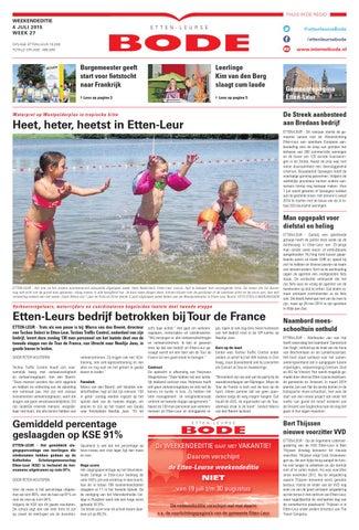 Vliegengordijn De Reijer.Etten Leurse Bode 05 07 2015 By Uitgeverij De Bode Issuu