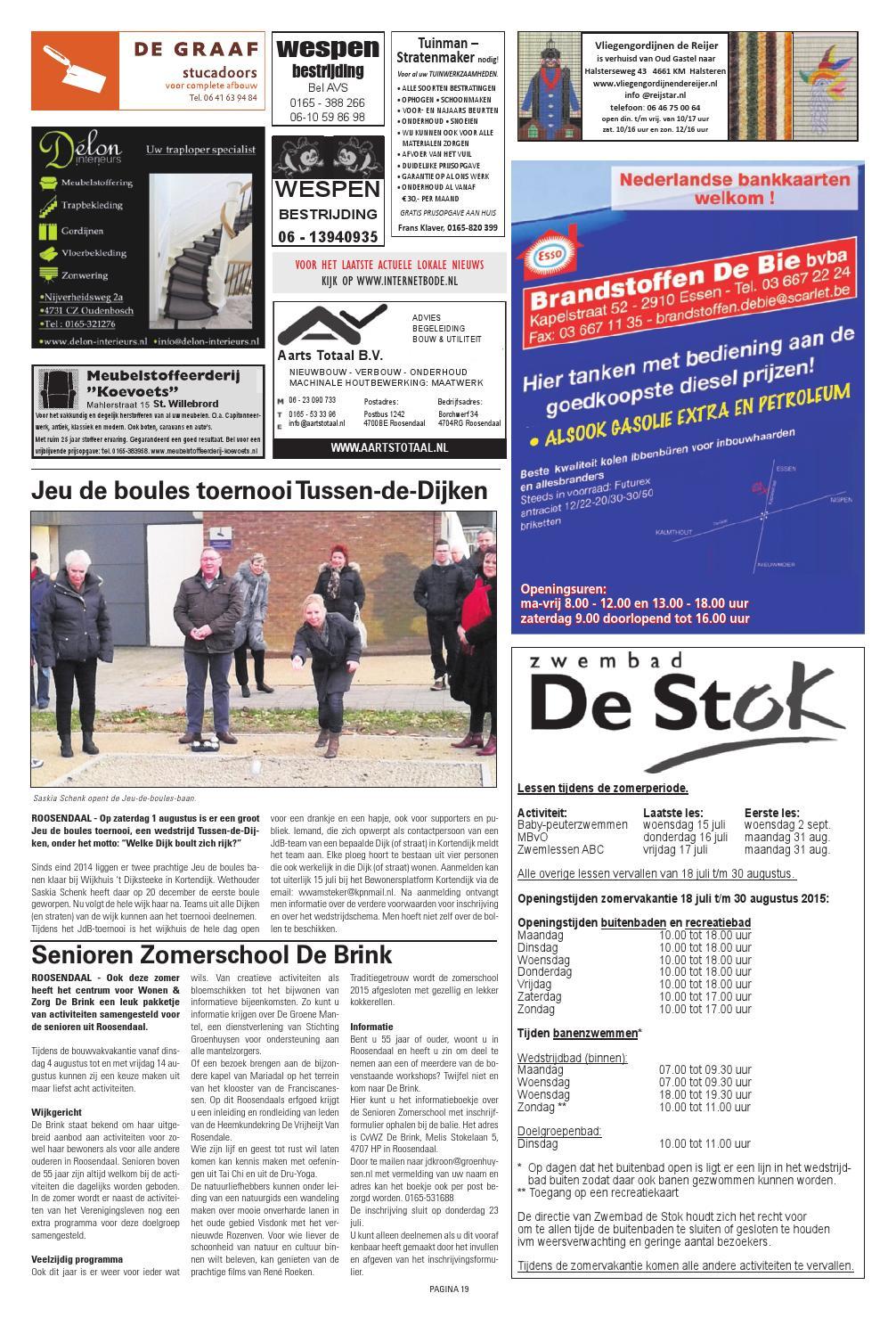 Vliegengordijn De Reijer.Roosendaalse Bode 05 07 2015 By Uitgeverij De Bode Issuu