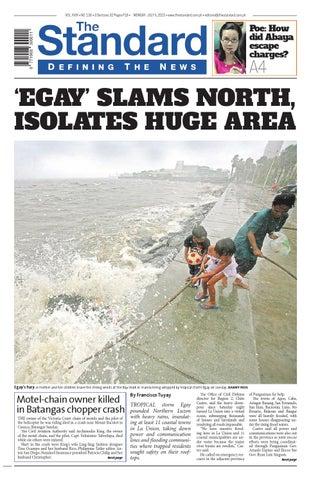 2fc17f9475a The Standard - 2015 July 06 - Monday by Manila Standard - issuu