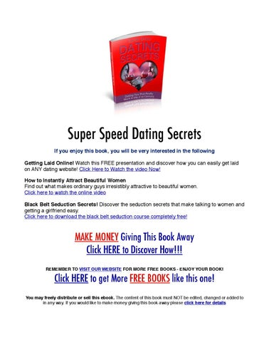 How does speed dating make money