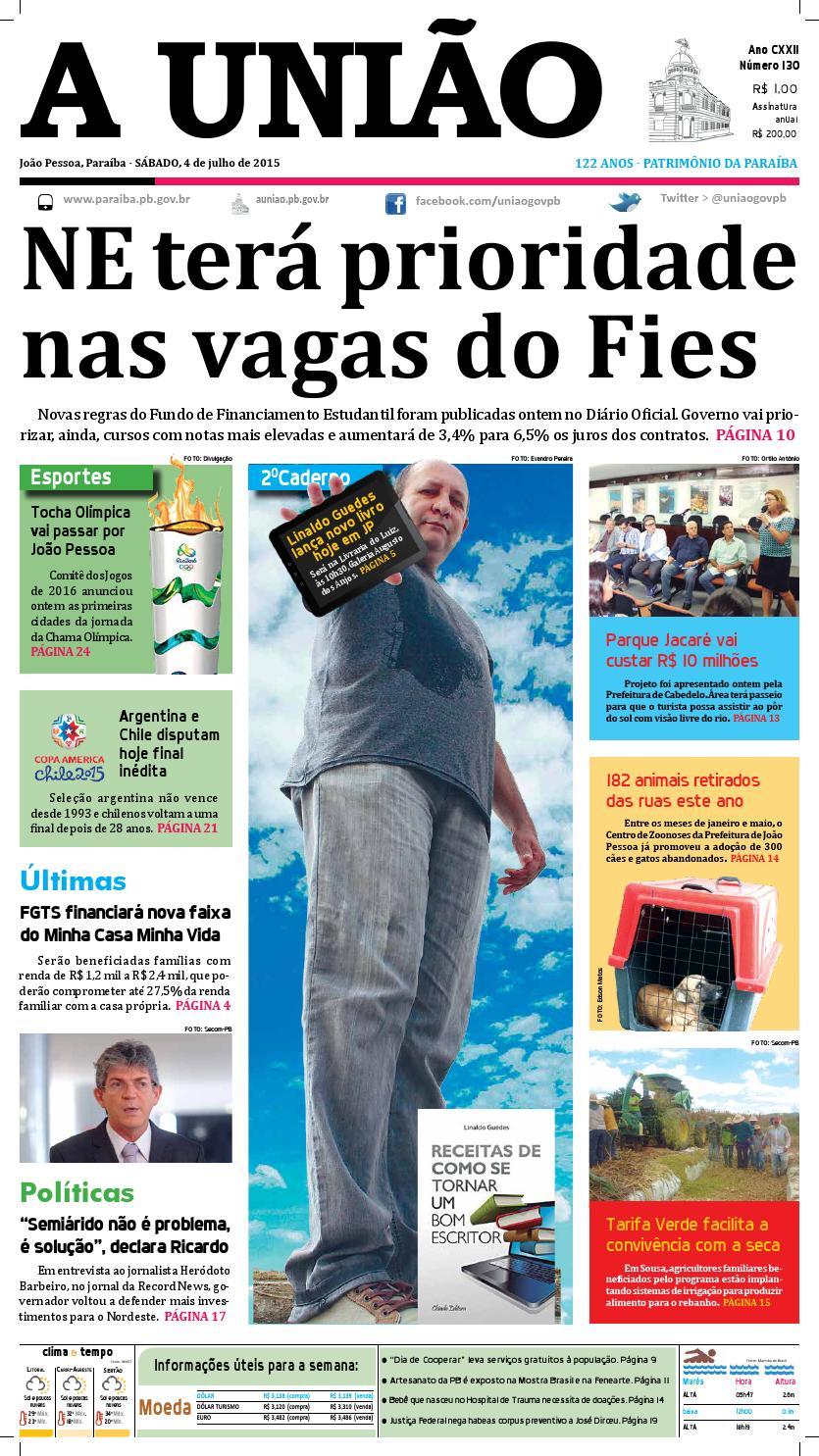 Jornal A União - 04 07 2015 by Jornal A União - issuu 5f1350b8912fd