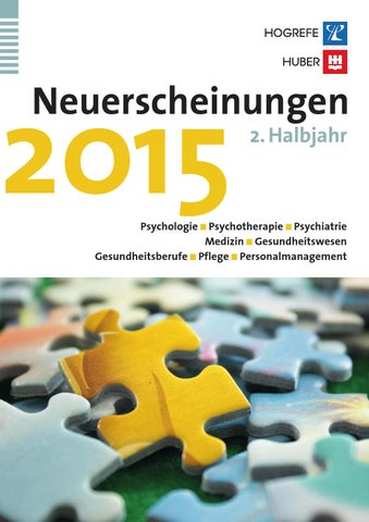 Vorschau 2 Halbjahr 2015 By Hogrefe   Issuu