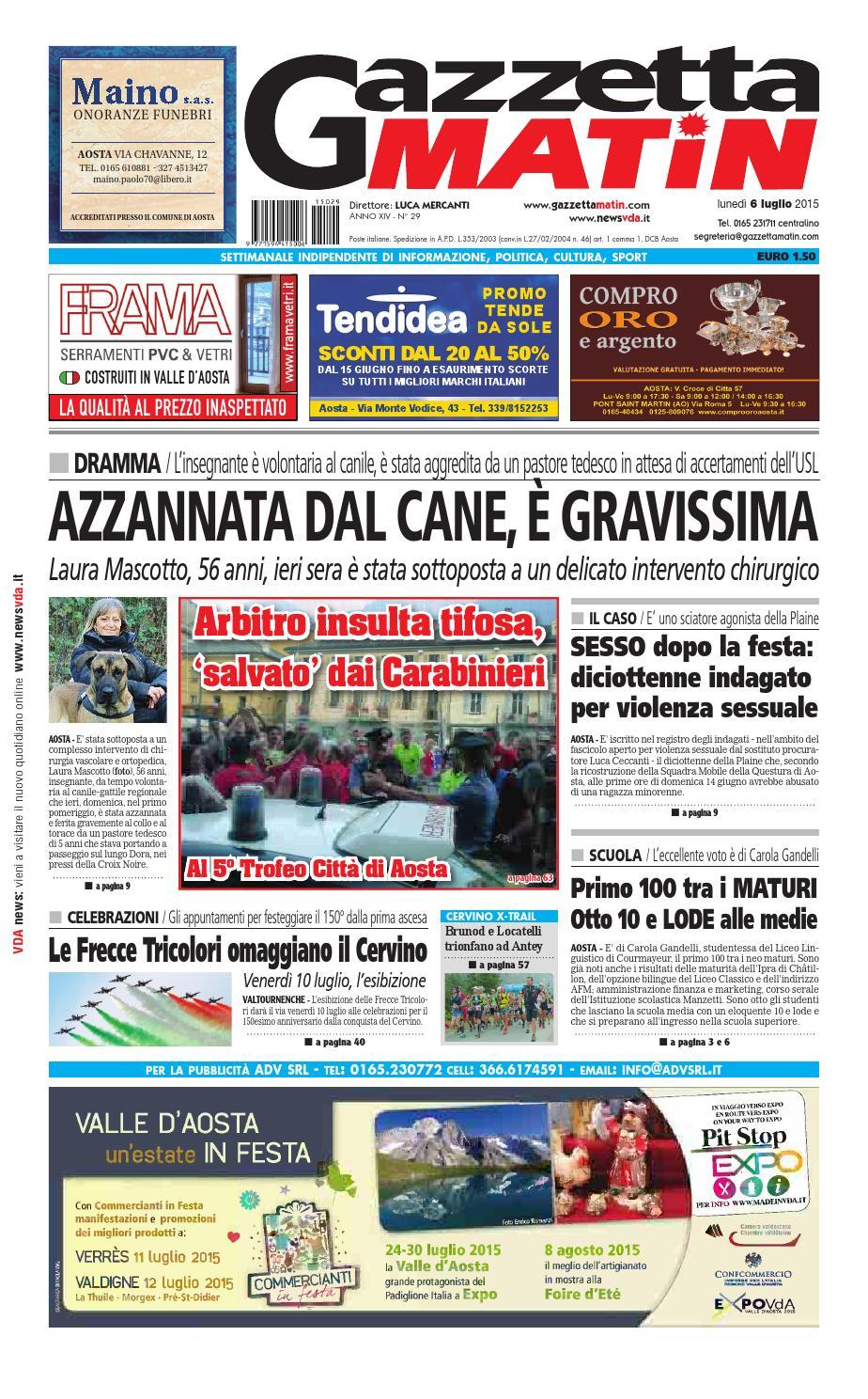 3337823e578ac Gazzetta Matin del 6 luglio 2015 by NewsVDA - issuu