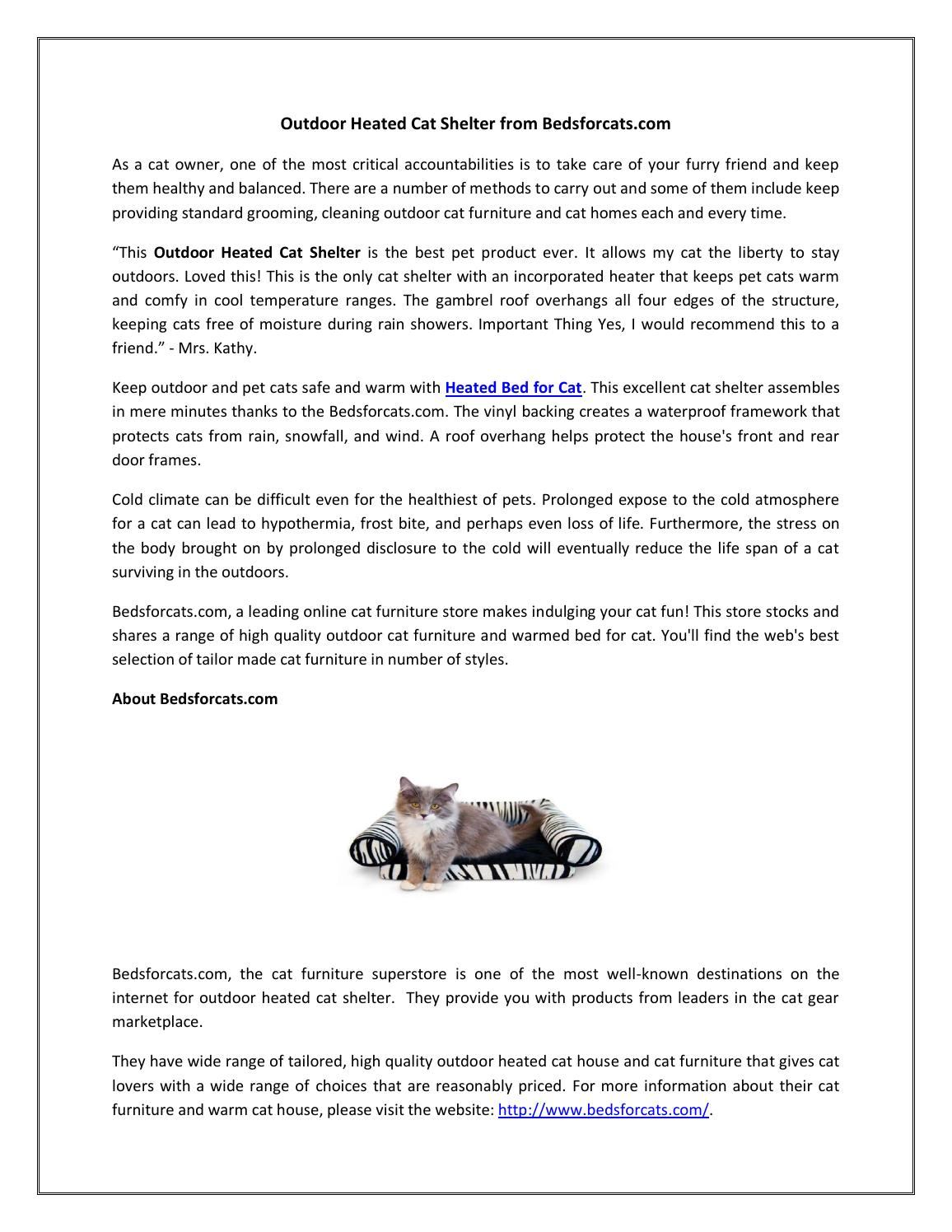Outdoor Cat Bed by bedsforcats - issuu