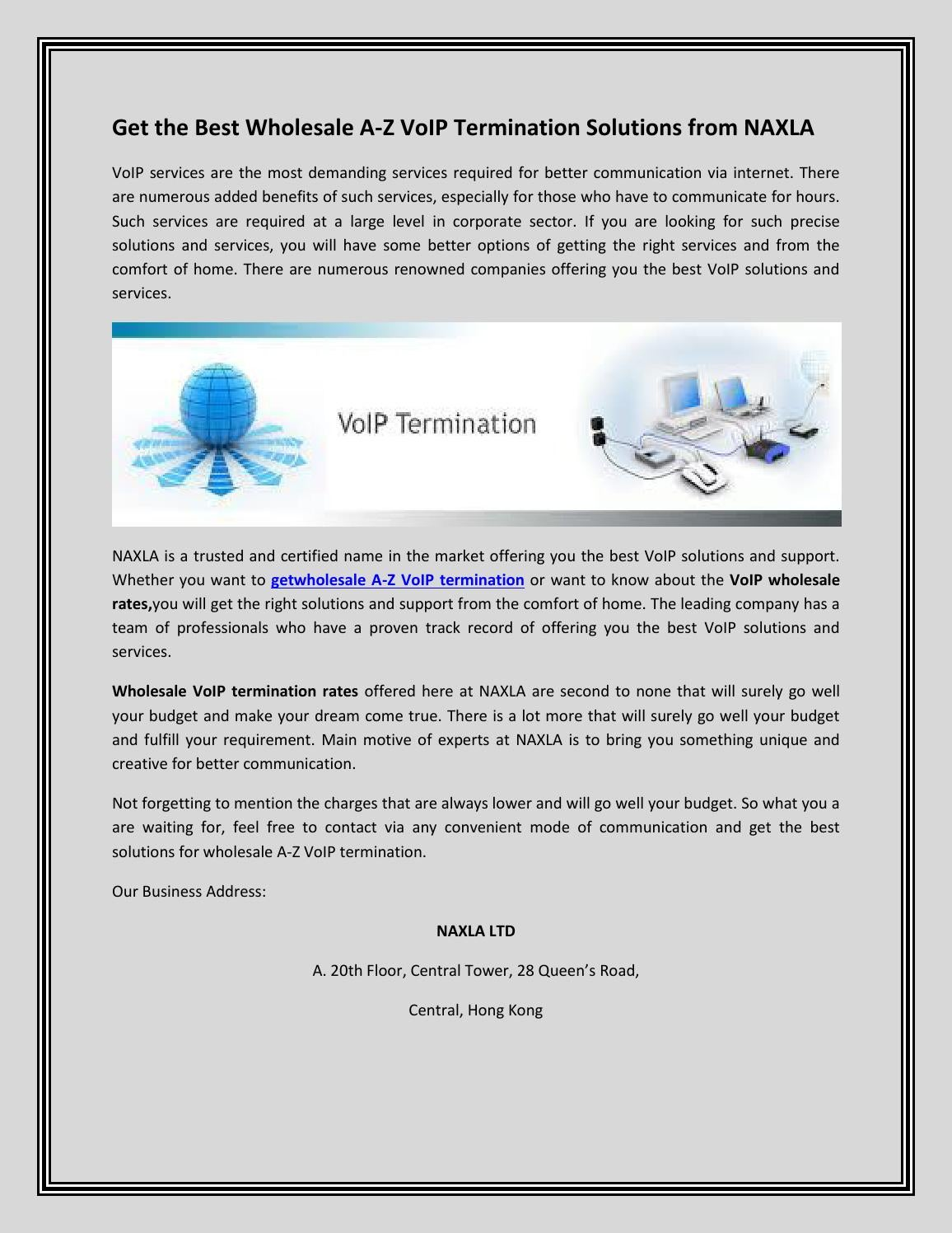 Wholesale A Z Voip Termination Solution By Naxla  Issuu. Social Work Training Seminars. Home Improvement Loans With No Equity. Wordpress Developers For Hire. What Is The Higher Learning Commission. Fashion Designing Career Ruud Heating And Air. Marquette University Financial Aid. Ashford University Online Courses. Colorado Online Schools K 12