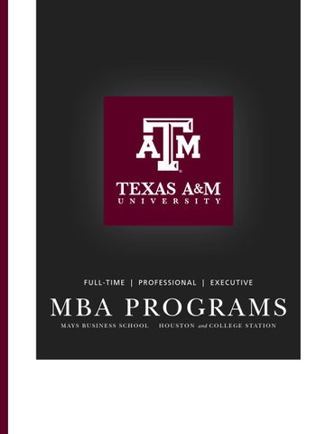 FTMBA Brochure By Mays Business School   Issuu
