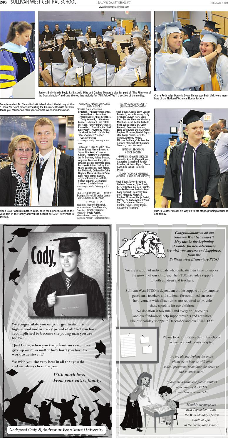 Graduation 2015 by Sullivan County Democrat/Catskill