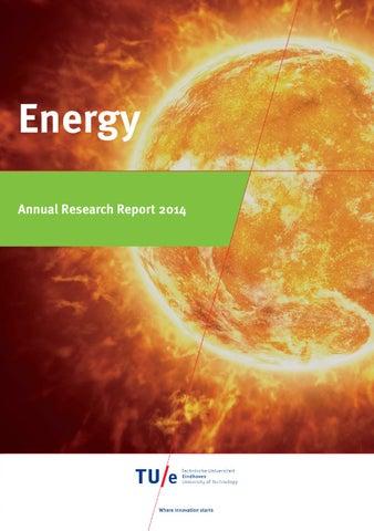 Tue energy annual research report 2014 by TU/e - Strategic Area