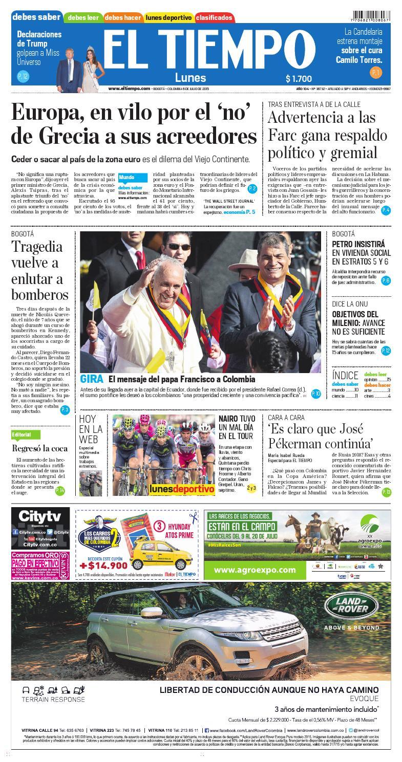 El Tiempo 06/07/15 by Andres A. - issuu
