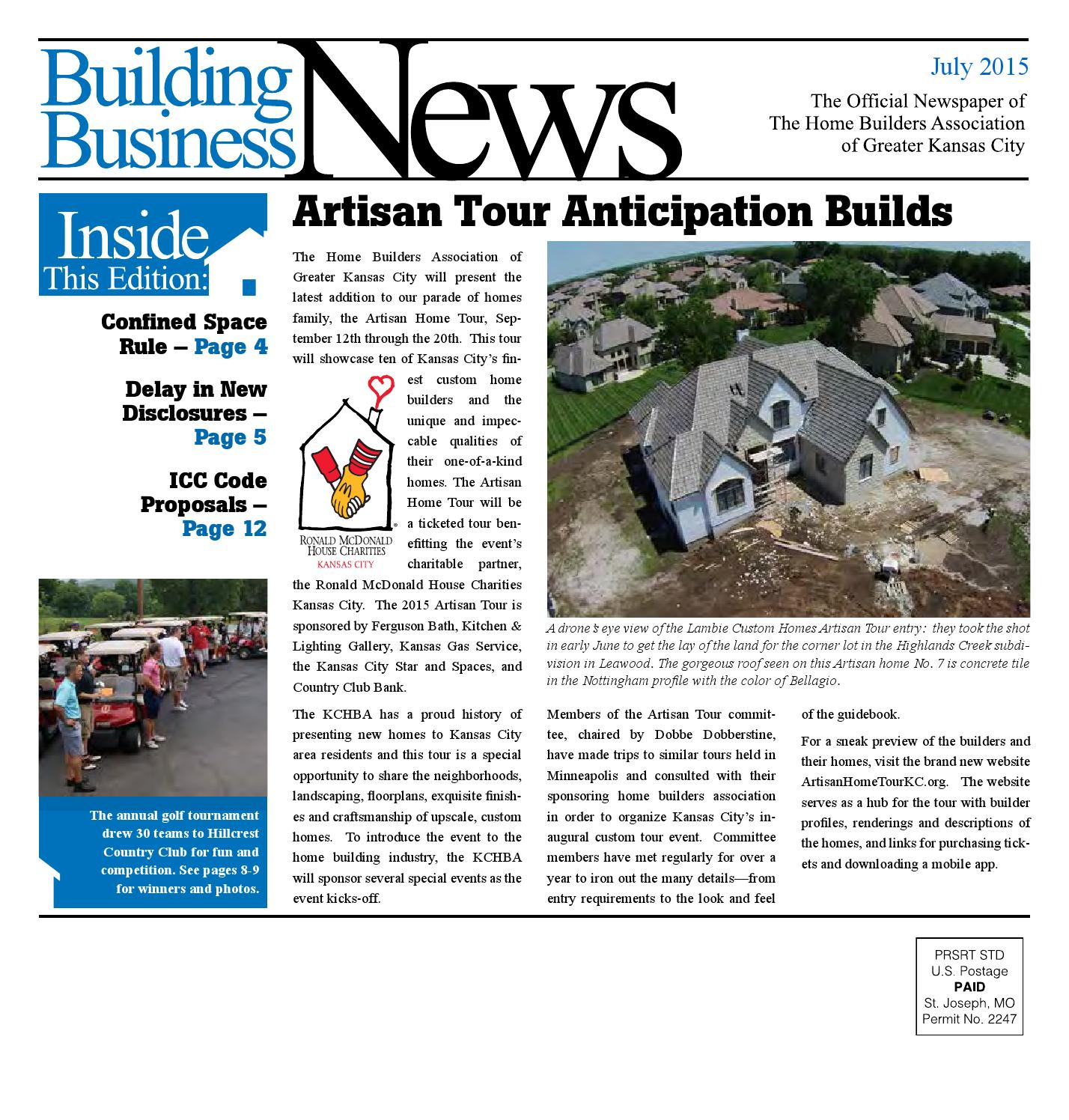 Error Log: July 2015 Building Business News By Home Builders