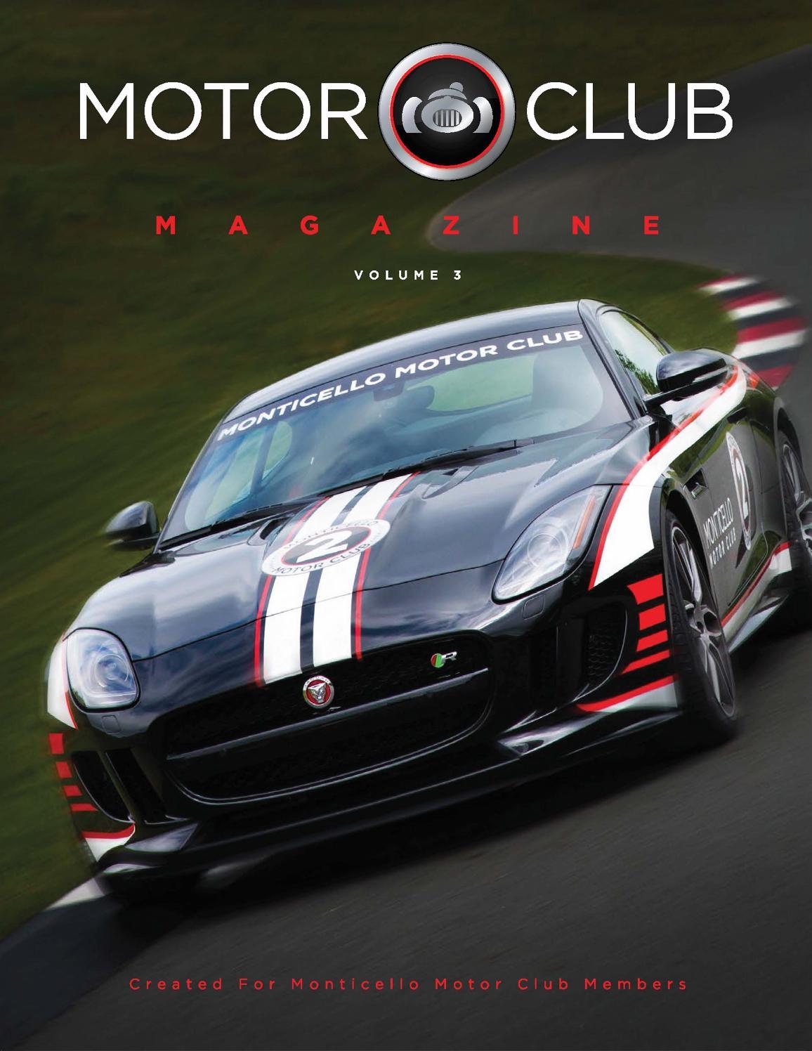 Motor Club Magazine Volume 3 By Monticello Motor Club