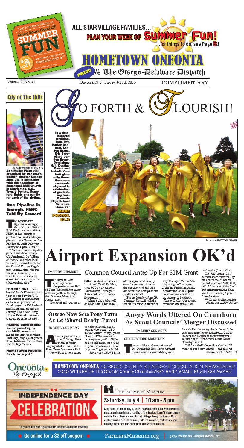 Hometown Oneonta eEdition 07/03/15 by All Otsego - News of