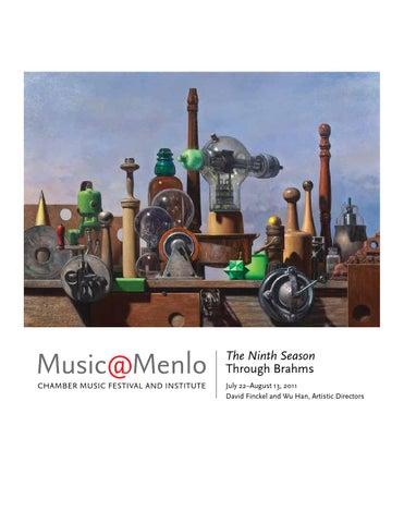 Musicmenlo 2011 Festival Program Book By Claire Graham Issuu