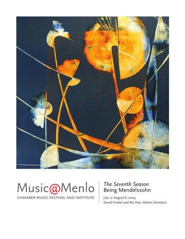 Musicmenlo 2009 Festival Program Book By Claire Graham Issuu