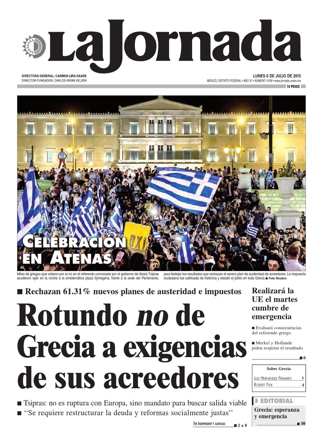 La Jornada, 07/06/2015 by La Jornada: DEMOS Desarrollo de Medios ...