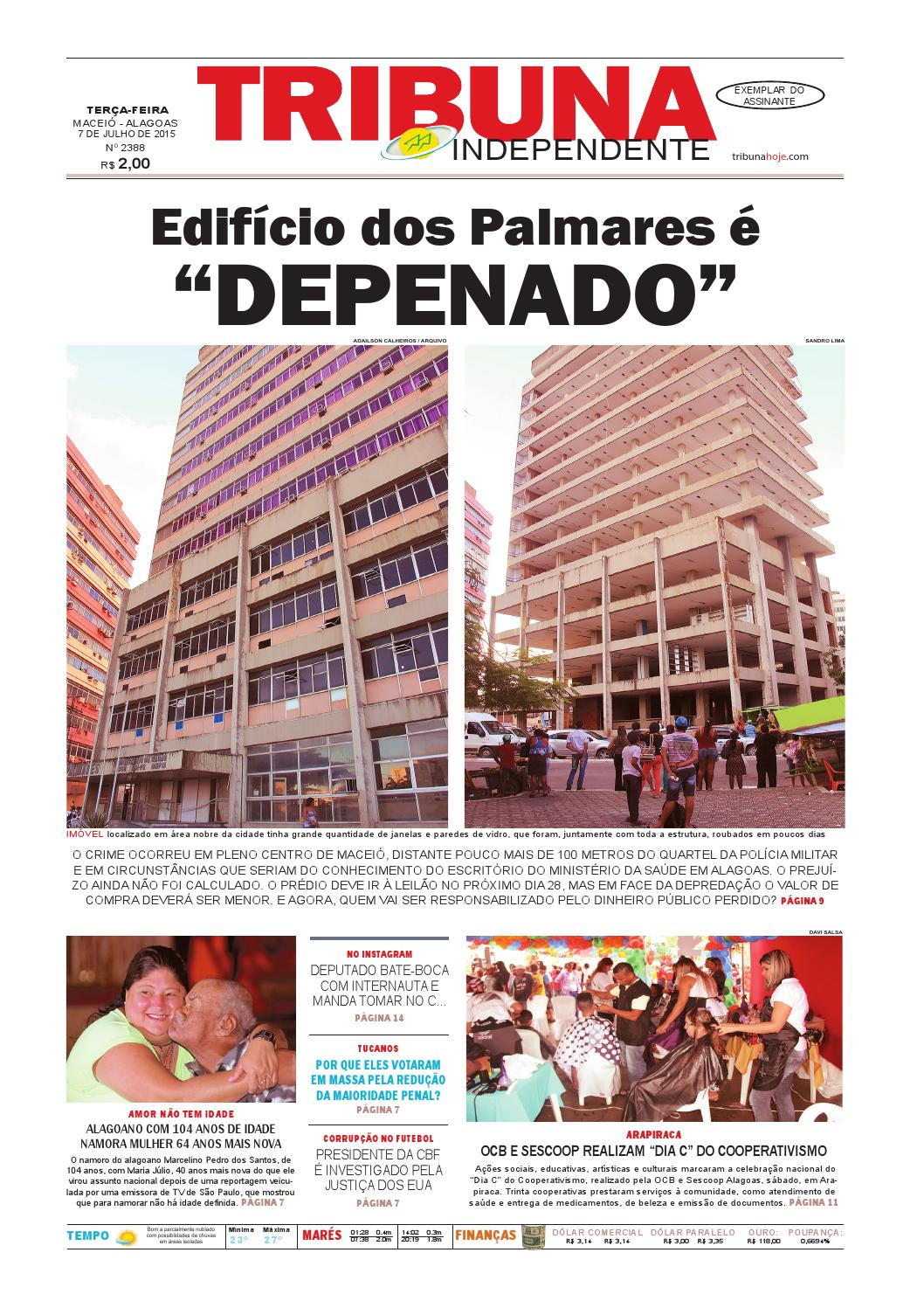 Edição número 2388 - 7 de julho de 2015 by Tribuna Hoje - issuu 26553820cf1b1