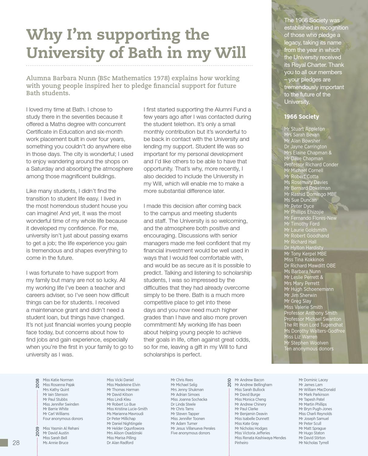 Donor report 2013 by University of bath - issuu